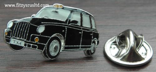 BLACK TAXI LAPEL HAT TIE CAP PIN BADGE UK LONDON GB CAB CABBIE GIFT SOUVENIR NEW